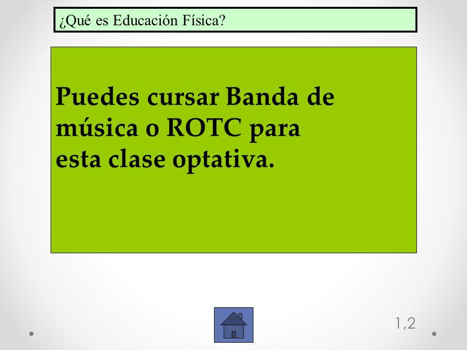 Puedes cursar Banda de música o ROTC para esta clase optativa.