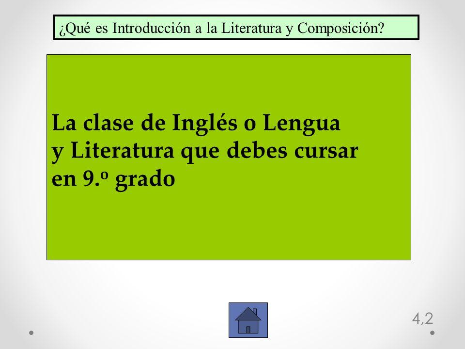 La clase de Inglés o Lengua y Literatura que debes cursar en 9.o grado