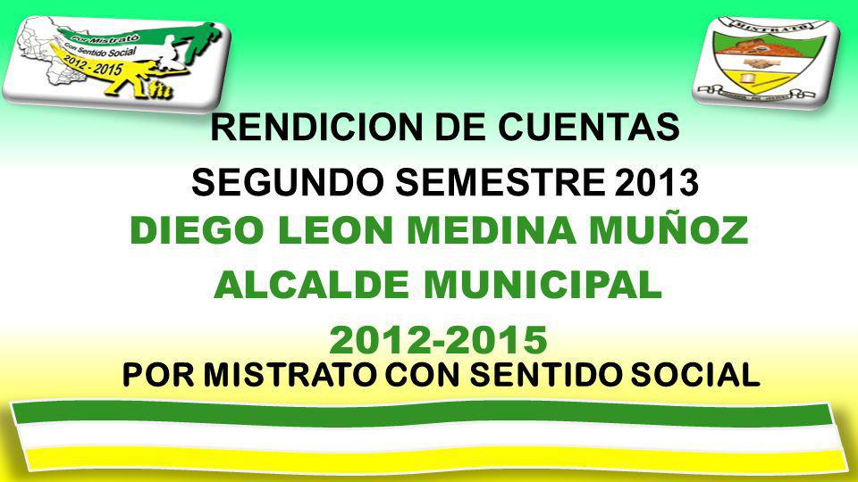 RENDICION DE CUENTAS SEGUNDO SEMESTRE 2013