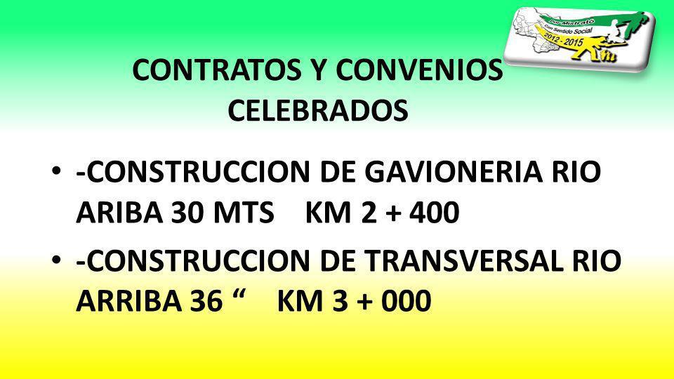 CONTRATOS Y CONVENIOS CELEBRADOS