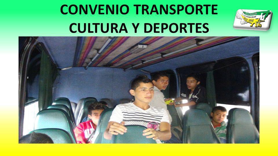 CONVENIO TRANSPORTE CULTURA Y DEPORTES