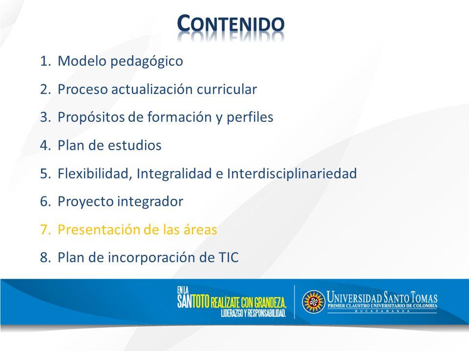 Contenido Modelo pedagógico Proceso actualización curricular