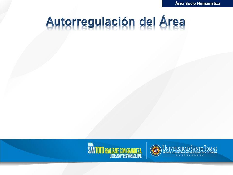 Área Socio-Humanística Autorregulación del Área