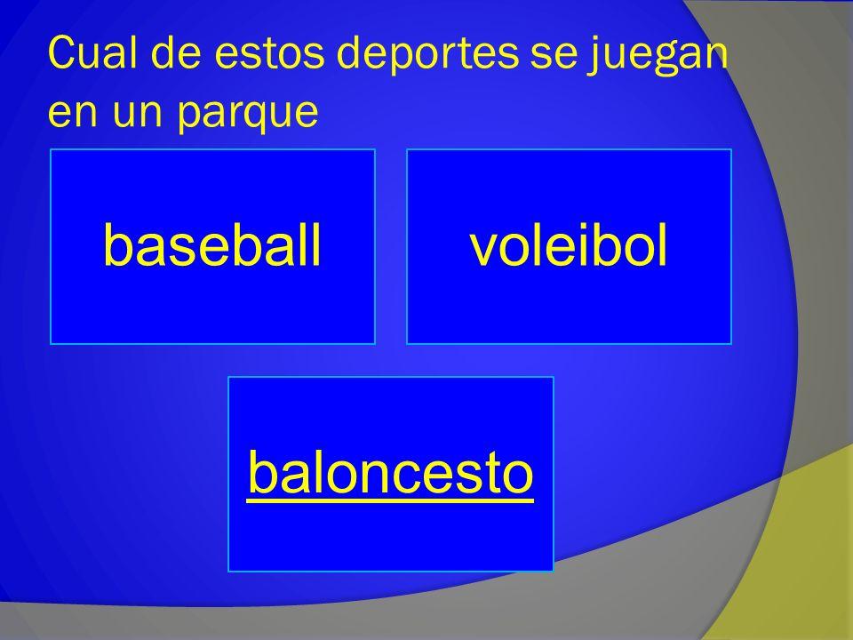 Cual de estos deportes se juegan en un parque