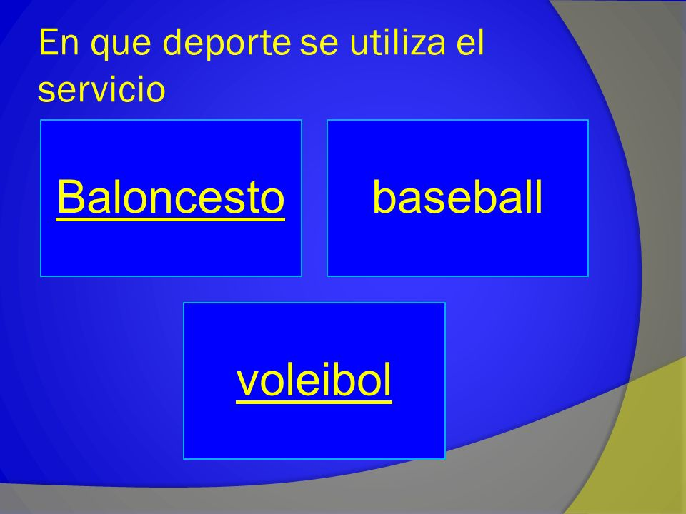 En que deporte se utiliza el servicio