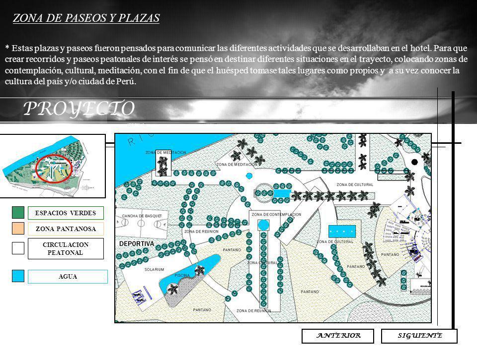 PROYECTO ZONA DE PASEOS Y PLAZAS