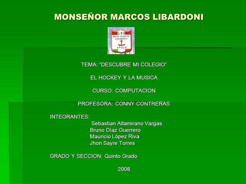 MONSEÑOR MARCOS LIBARDONI