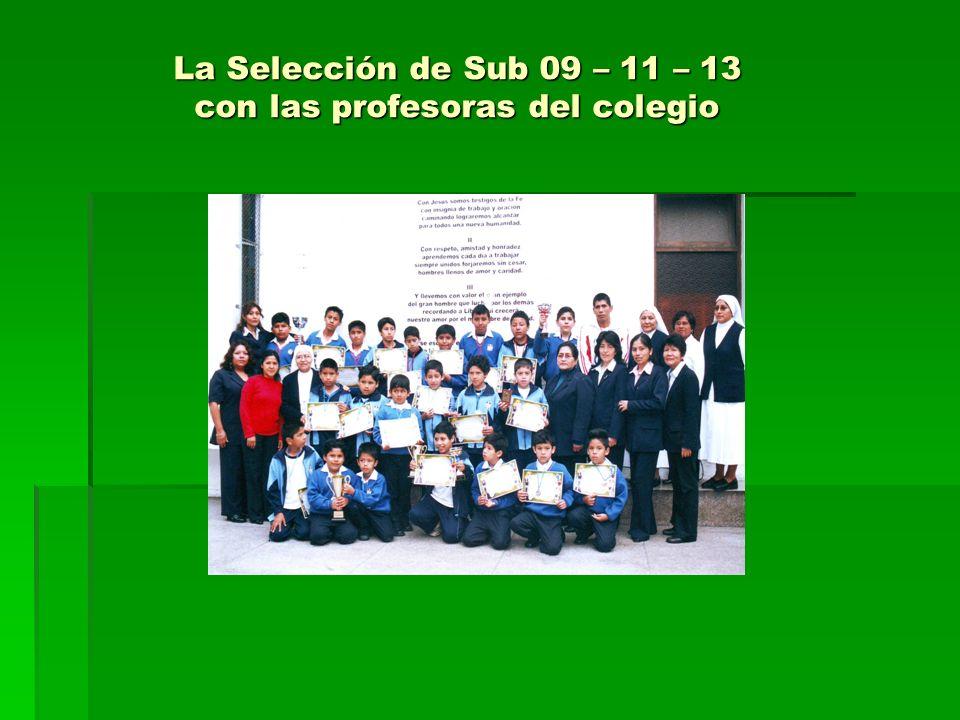 La Selección de Sub 09 – 11 – 13 con las profesoras del colegio