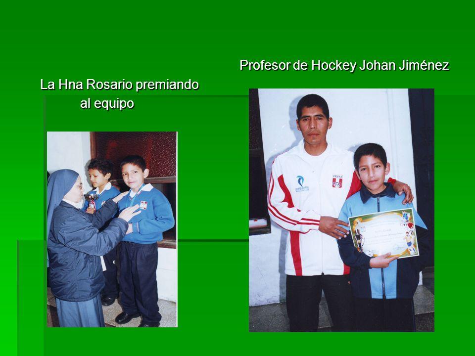 Profesor de Hockey Johan Jiménez