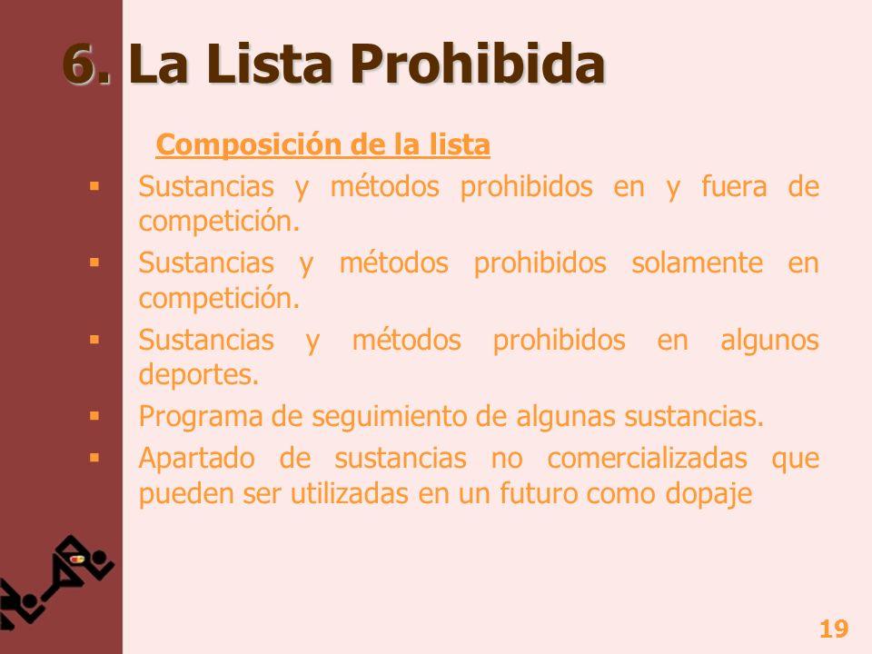 6. La Lista Prohibida Composición de la lista