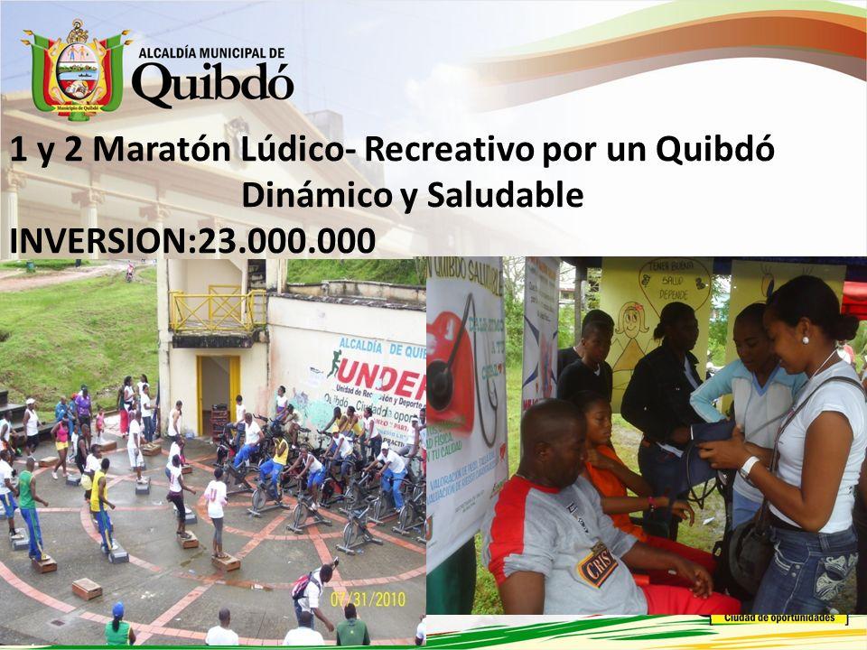1 y 2 Maratón Lúdico- Recreativo por un Quibdó