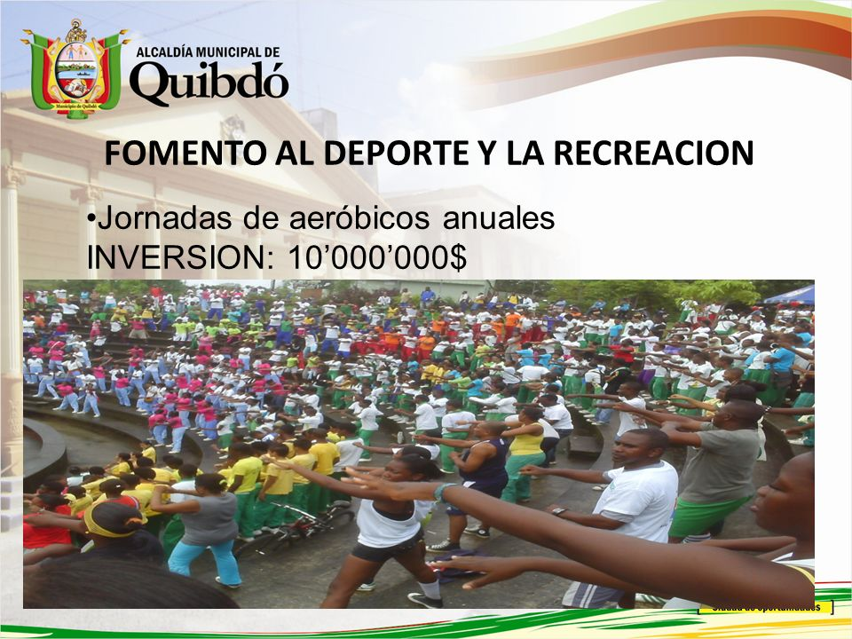 FOMENTO AL DEPORTE Y LA RECREACION