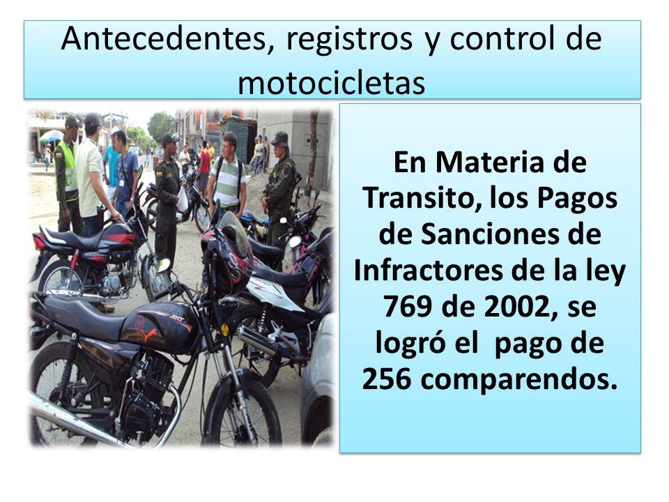 Antecedentes, registros y control de motocicletas