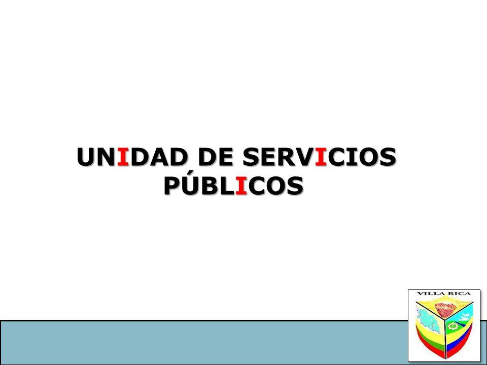 UNIDAD DE SERVICIOS PÚBLICOS