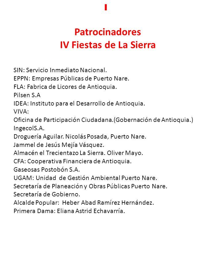 Patrocinadores IV Fiestas de La Sierra