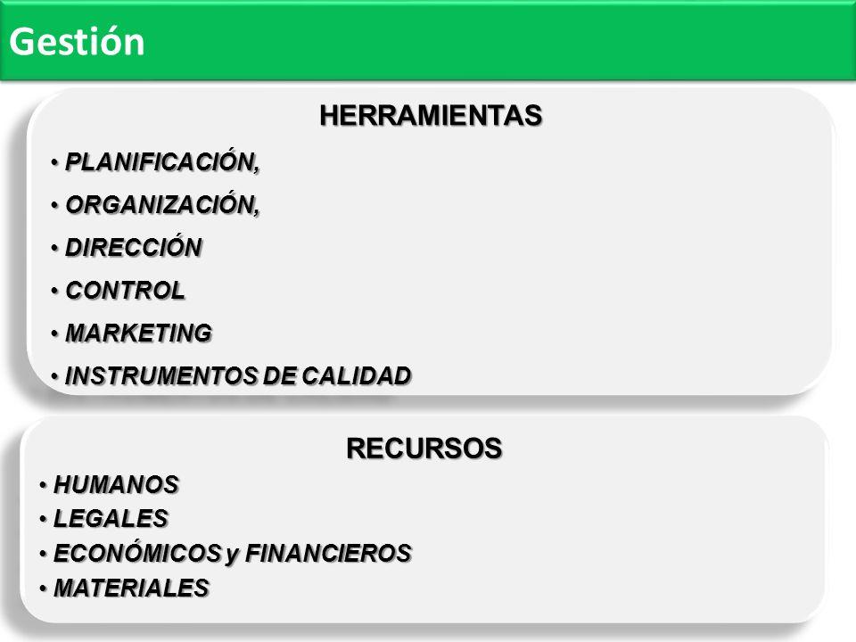 Gestión HERRAMIENTAS RECURSOS PLANIFICACIÓN, ORGANIZACIÓN, DIRECCIÓN