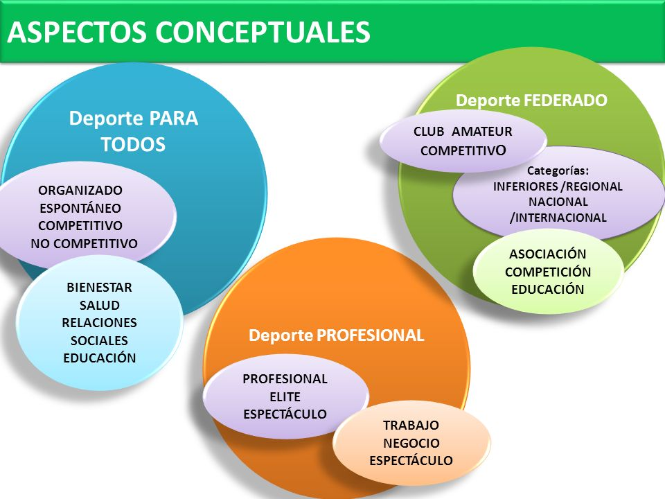 INFERIORES /REGIONAL NACIONAL /INTERNACIONAL ORGANIZADO ESPONTÁNEO