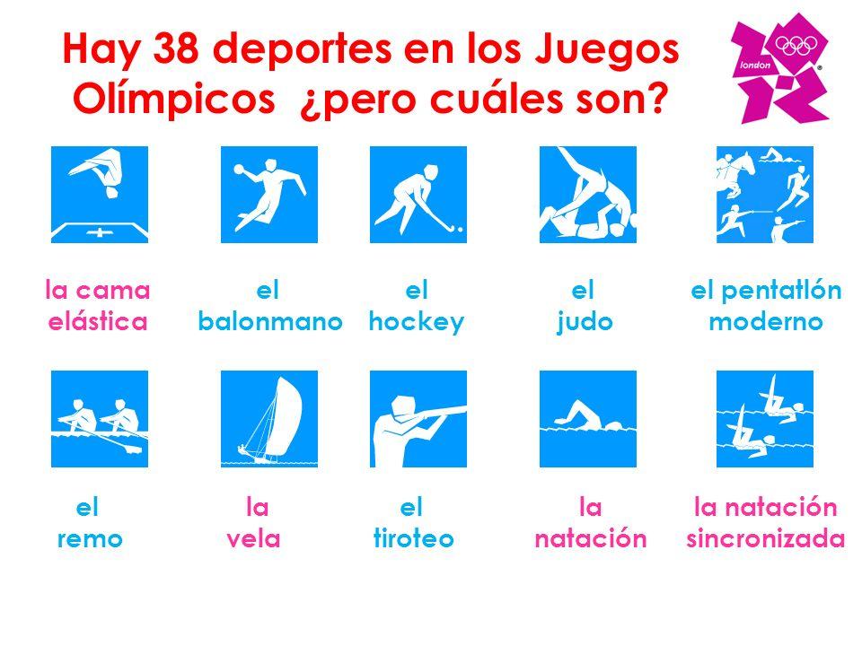 Hay 38 deportes en los Juegos Olímpicos ¿pero cuáles son