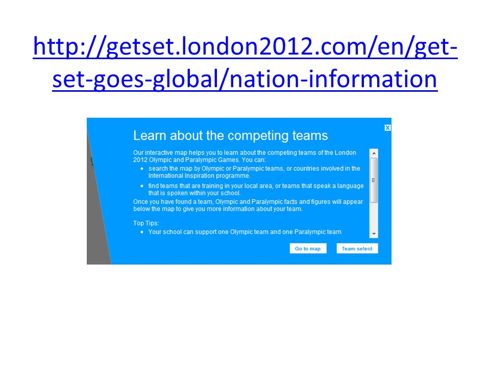 http://getset.london2012.com/en/get-set-goes-global/nation-information