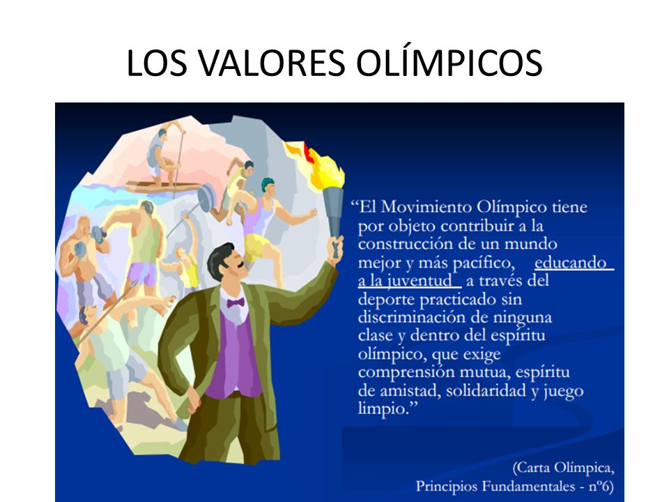 LOS VALORES OLÍMPICOS The principle of the task is the same whether it is used at KS3 or KS4.