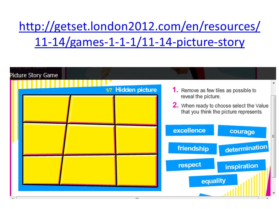 http://getset.london2012.com/en/resources/11-14/games-1-1-1/11-14-picture-story