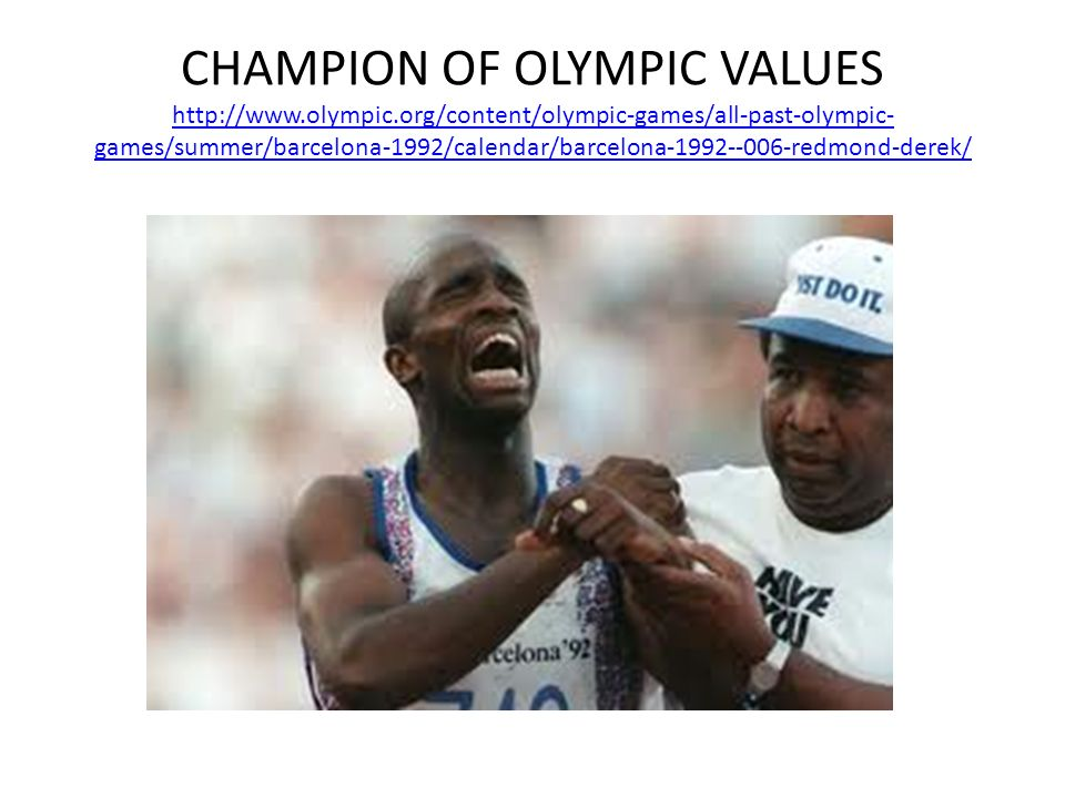 CHAMPION OF OLYMPIC VALUES http://www. olympic