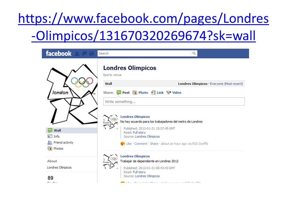 https://www. facebook. com/pages/Londres-Olimpicos/131670320269674
