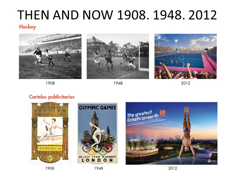 THEN AND NOW 1908, 1948, 2012 Rachel Hawkes 'Antes y ahora'