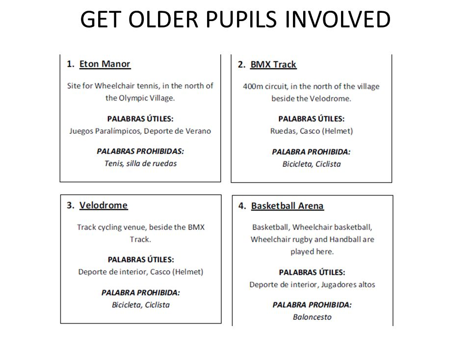 GET OLDER PUPILS INVOLVED