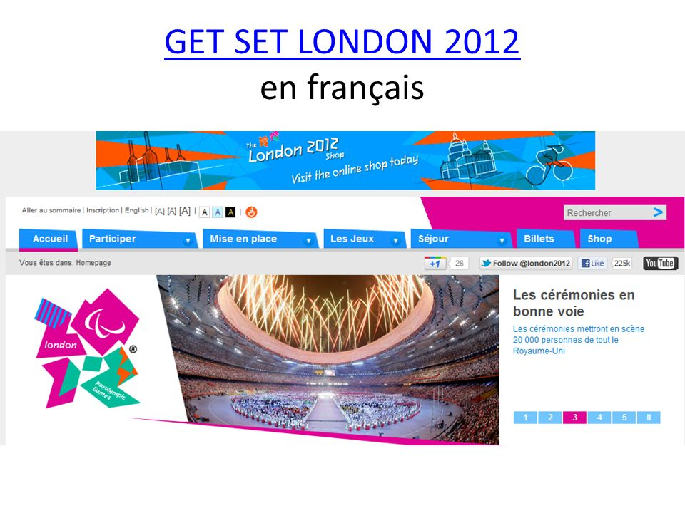 GET SET LONDON 2012 en français