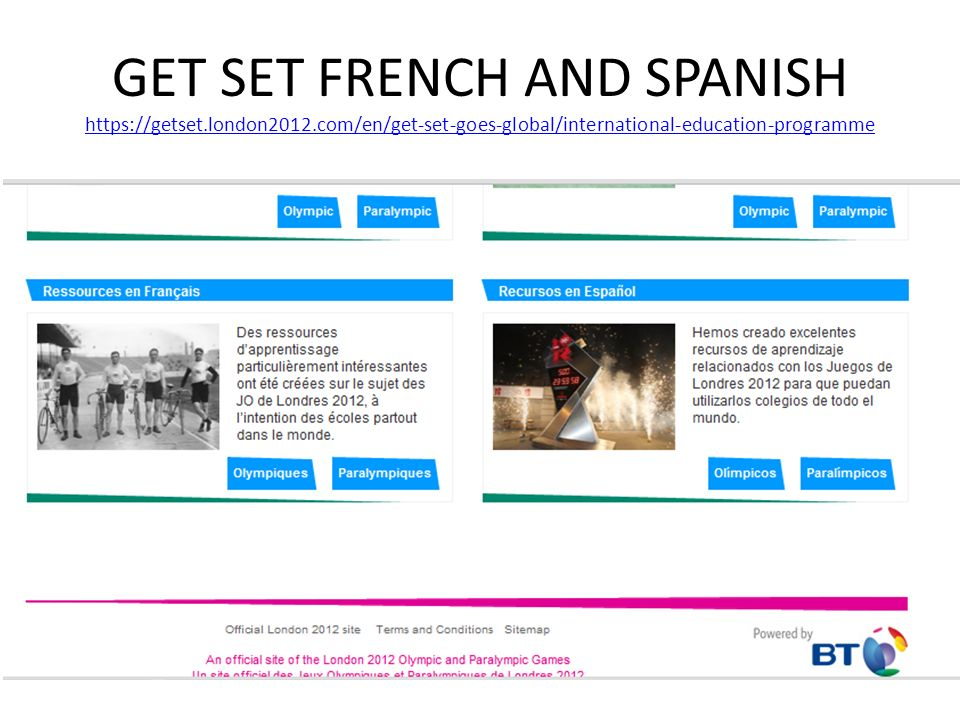 GET SET FRENCH AND SPANISH https://getset. london2012