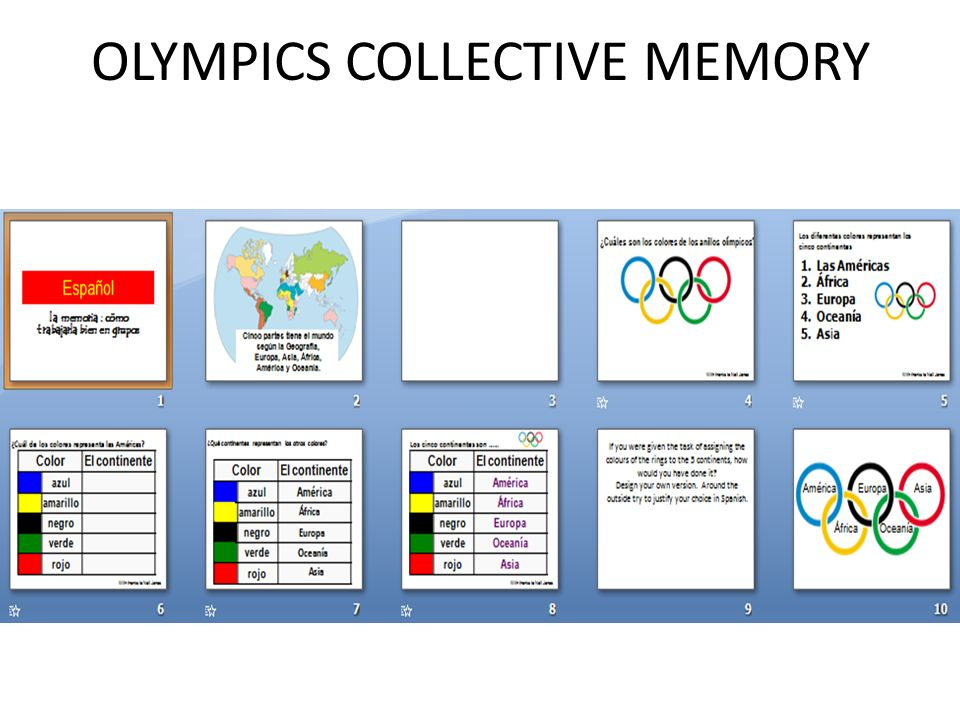 OLYMPICS COLLECTIVE MEMORY
