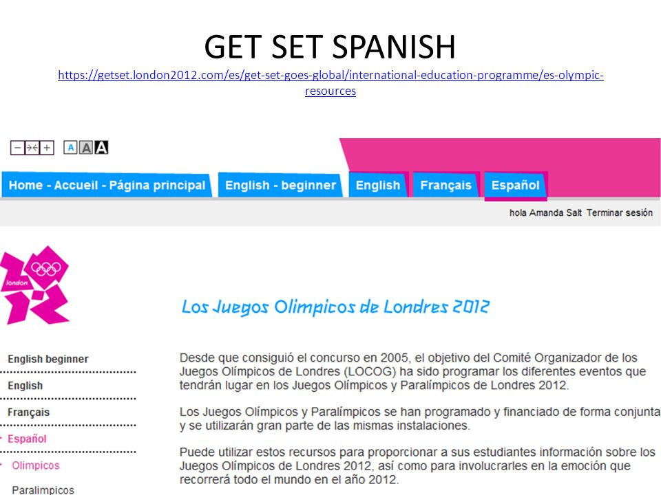 GET SET SPANISH https://getset. london2012