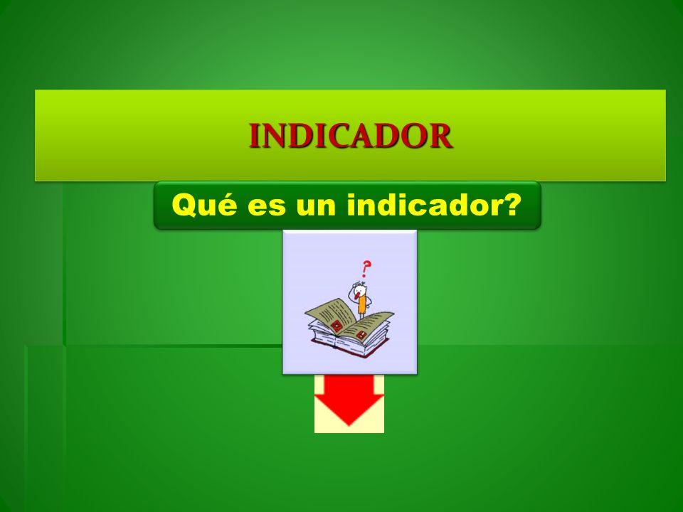INDICADOR Qué es un indicador