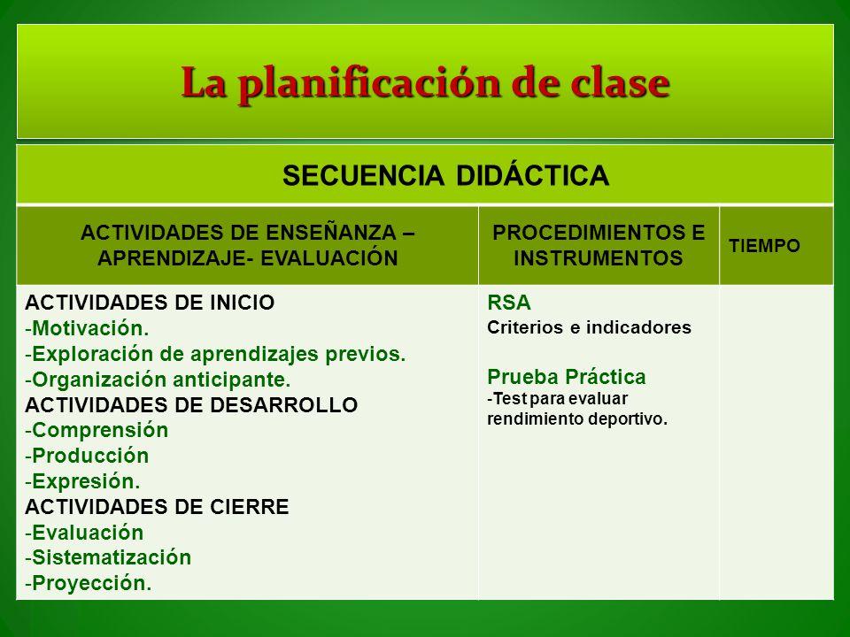 La planificación de clase