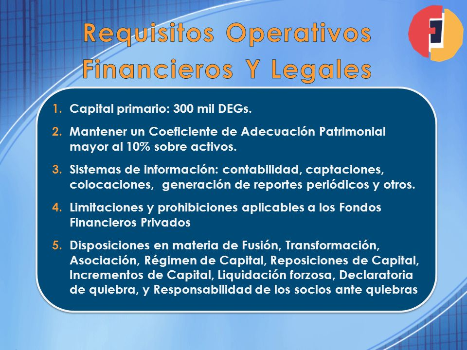 Requisitos Operativos Financieros Y Legales