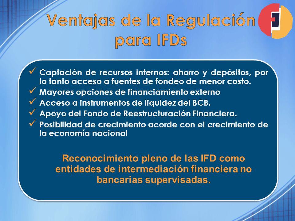 Ventajas de la Regulación para IFDs