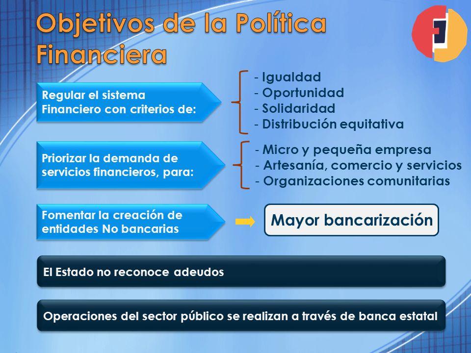 Objetivos de la Política Financiera