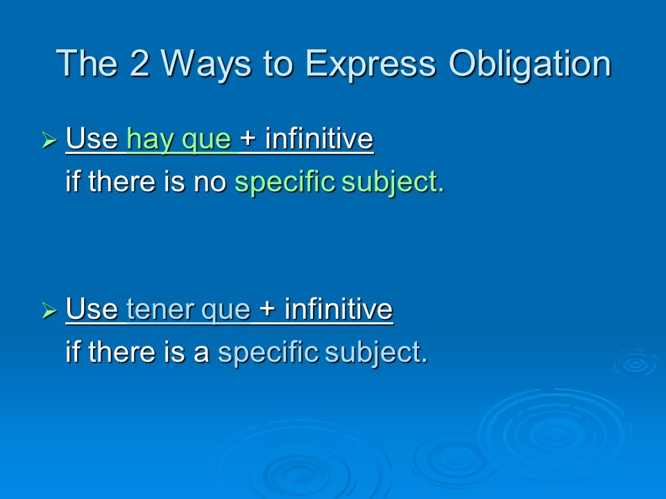 The 2 Ways to Express Obligation