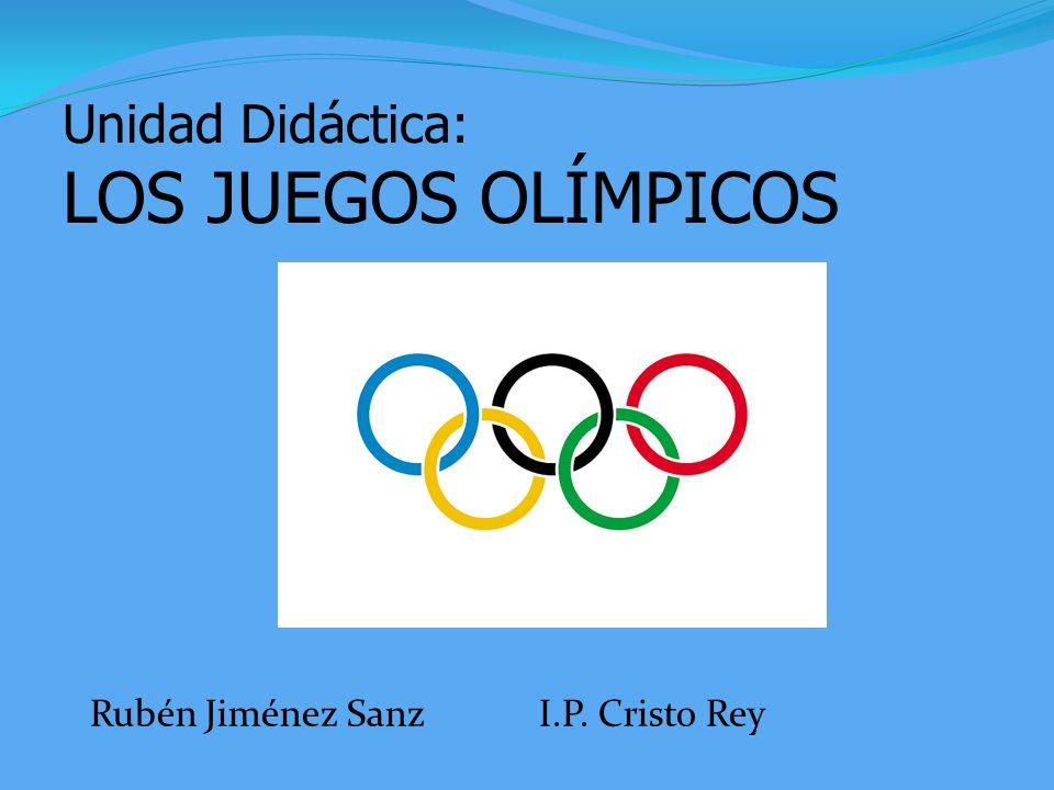 Unidad Didáctica: LOS JUEGOS OLÍMPICOS