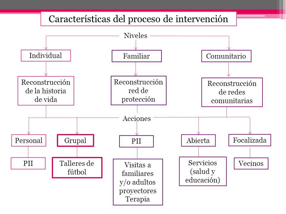 Características del proceso de intervención