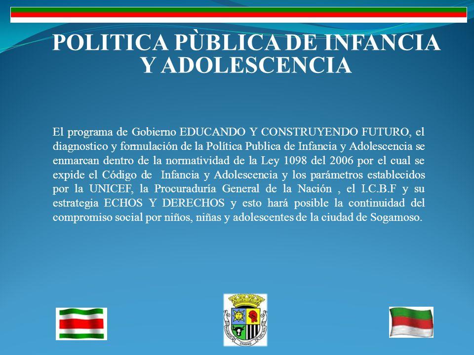 POLITICA PÙBLICA DE INFANCIA Y ADOLESCENCIA