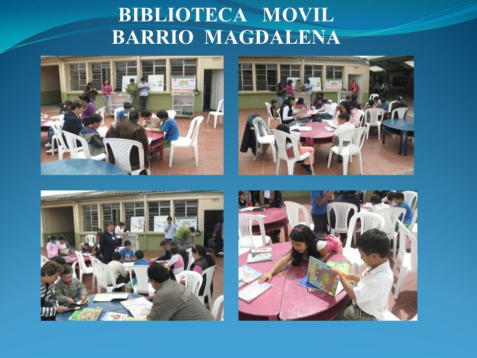 BIBLIOTECA MOVIL BARRIO MAGDALENA