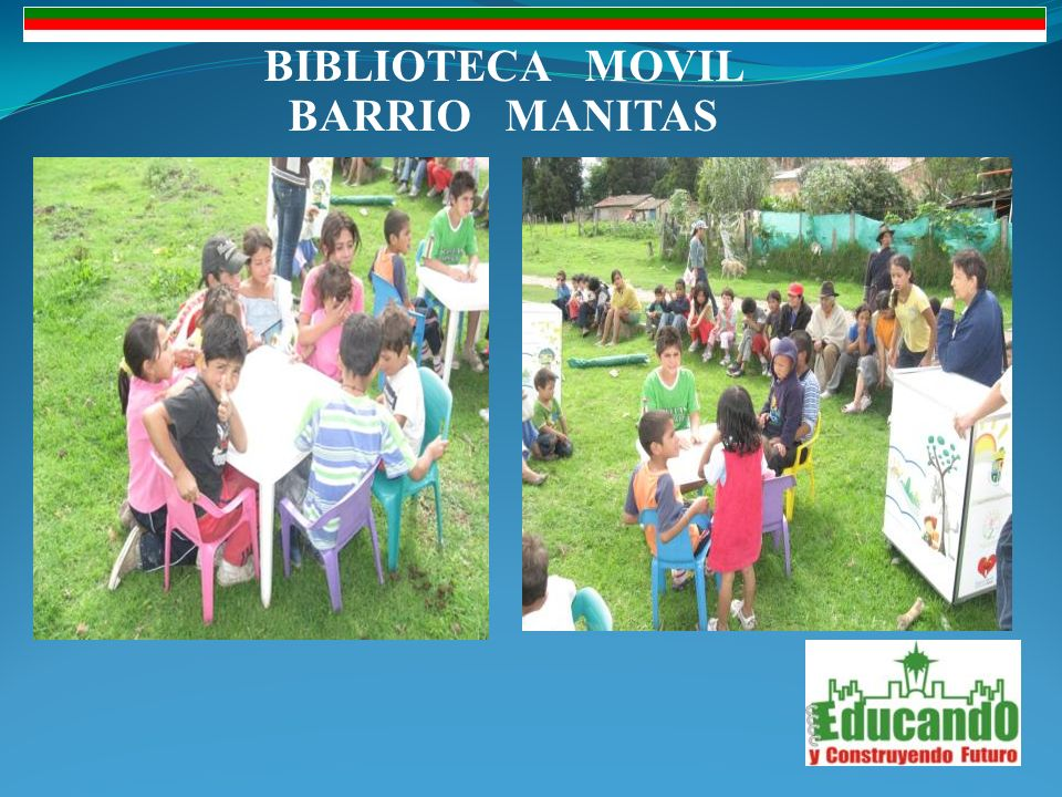 BIBLIOTECA MOVIL BARRIO MANITAS