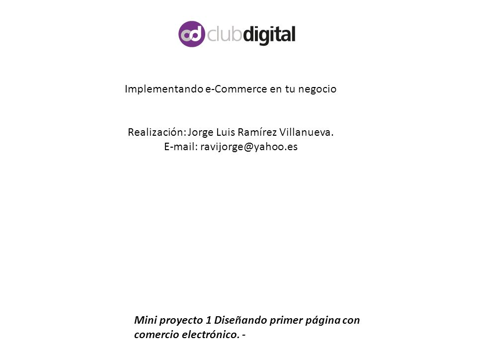 Implementando e-Commerce en tu negocio