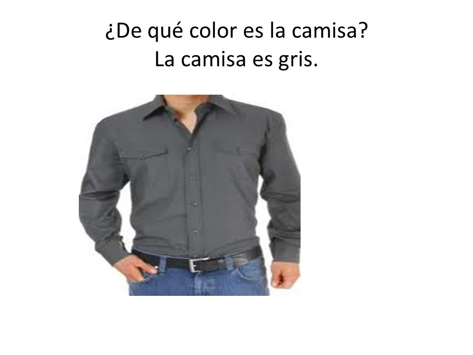 ¿De qué color es la camisa La camisa es gris.