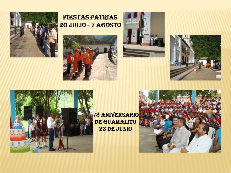 FIESTAS PATRIAS 20 JULIO - 7 AGOSTO