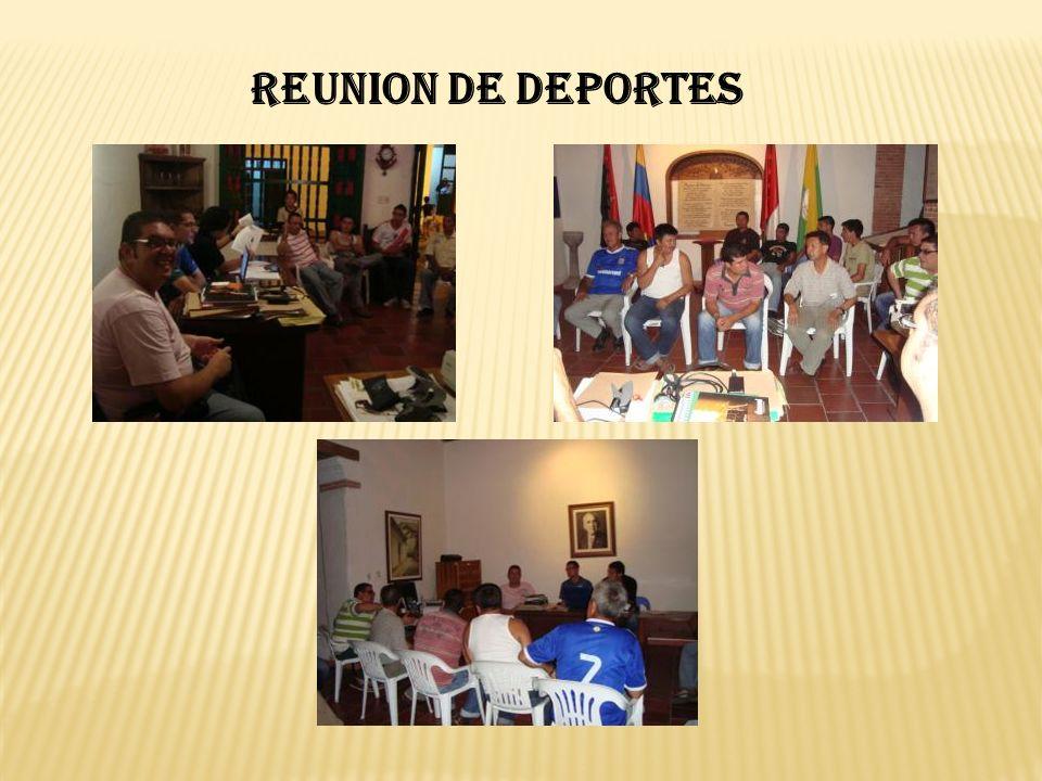 REUNION DE DEPORTES