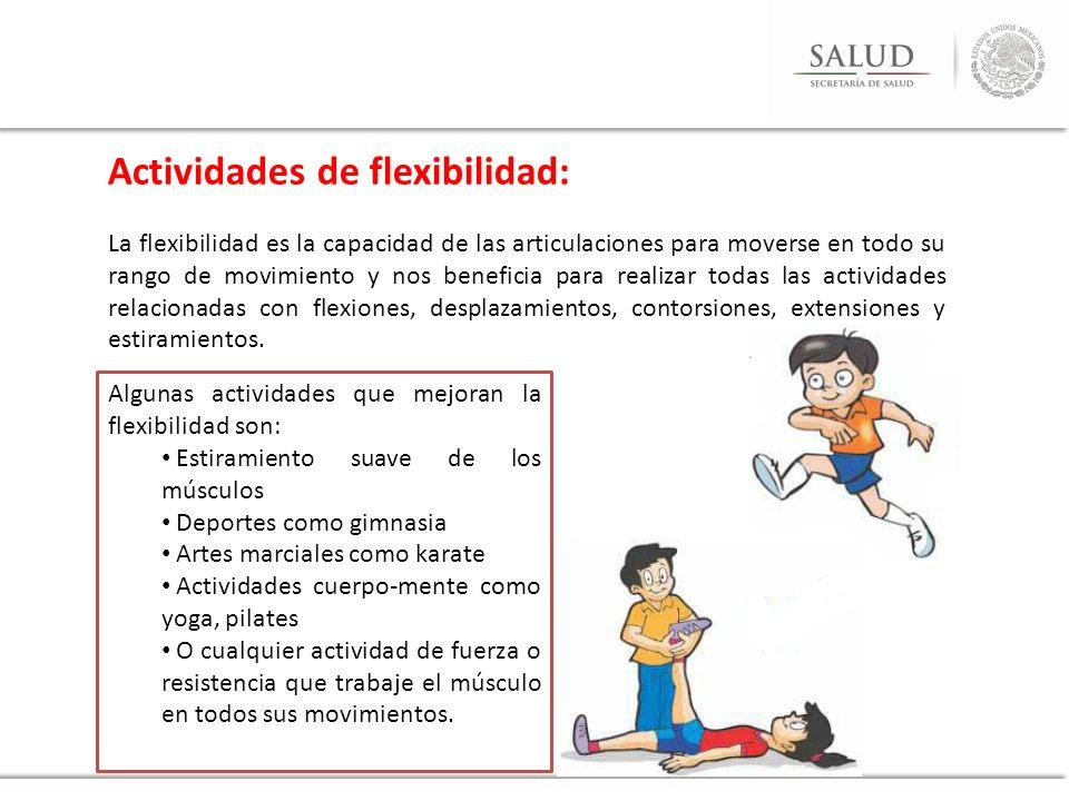 Actividades de flexibilidad: