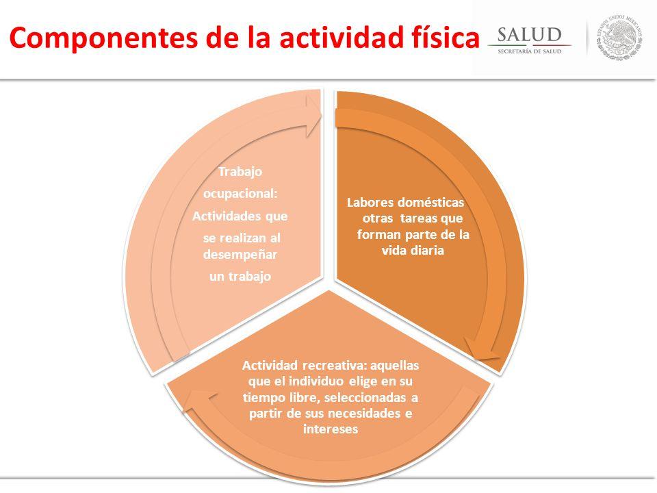 Componentes de la actividad física